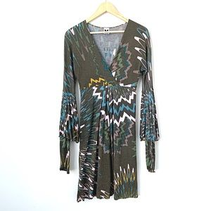 Missoni | Bell Sleeve Faux Wrap Abstract Dress